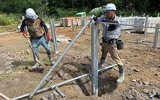 工事現場の架台や柵
